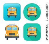 school bus icon   vector... | Shutterstock .eps vector #1038862084