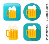 beer mug icon   drink alcohol... | Shutterstock .eps vector #1038862096