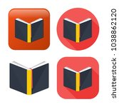 education book icon   library... | Shutterstock .eps vector #1038862120