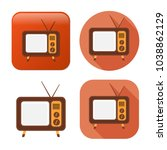 television screen icon   media... | Shutterstock .eps vector #1038862129