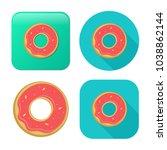doughnut icon   cake or dessert ... | Shutterstock .eps vector #1038862144
