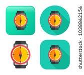 vector compass icon  ... | Shutterstock .eps vector #1038862156
