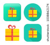 gift box icon   vector present... | Shutterstock .eps vector #1038862174