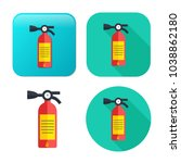 fire extinguisher icon   safety ... | Shutterstock .eps vector #1038862180