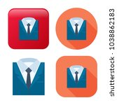 professional suit icon  ... | Shutterstock .eps vector #1038862183