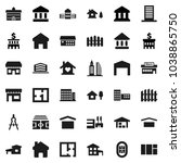 flat vector icon set  ... | Shutterstock .eps vector #1038865750