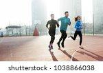 friends fitness training... | Shutterstock . vector #1038866038
