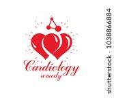 vector heart shape logo created ...   Shutterstock .eps vector #1038866884