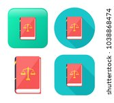 law book icon   judge icon  ... | Shutterstock .eps vector #1038868474