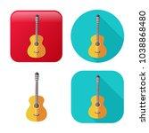 guitar icon   music instrument  ...   Shutterstock .eps vector #1038868480