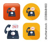 24 7 customer service icon  ... | Shutterstock .eps vector #1038868483