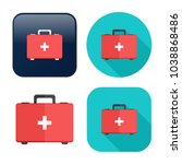 first aid bag icon   medical... | Shutterstock .eps vector #1038868486