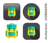 backpack icon   vector school... | Shutterstock .eps vector #1038868498