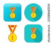 win medal icon   award prize... | Shutterstock .eps vector #1038868504