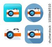 vector camera icon   digital... | Shutterstock .eps vector #1038868510