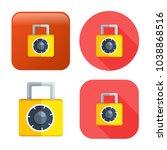 lock icon   vector padlock  ... | Shutterstock .eps vector #1038868516