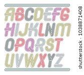 set of trendy modern vector...   Shutterstock .eps vector #1038871408