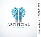 artificial intelligence concept ... | Shutterstock .eps vector #1038871573