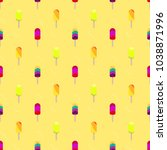 colorful popsicle ice cream... | Shutterstock .eps vector #1038871996