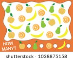 counting educational game for... | Shutterstock .eps vector #1038875158
