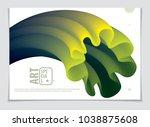 vector of modern abstract shape ... | Shutterstock .eps vector #1038875608