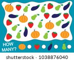 count how many fruits  berries... | Shutterstock .eps vector #1038876040