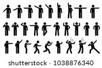stick figures of a person... | Shutterstock . vector #1038876340