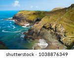 A View Of Rocks At Tintagel In...