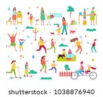 moms spending time happily with ... | Shutterstock . vector #1038876940