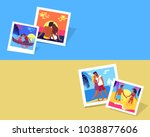 summer love photographies with... | Shutterstock . vector #1038877606
