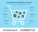 e commerce infographic concept... | Shutterstock .eps vector #1038880720