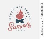 summer camp hand written...   Shutterstock . vector #1038883084