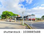 tahiti  french polynesia  ... | Shutterstock . vector #1038885688