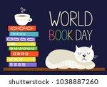 World Book Day. Books Stack...