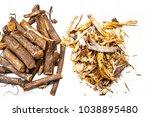 close up of ayurvedic herb... | Shutterstock . vector #1038895480