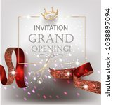 grand opening banner with red... | Shutterstock .eps vector #1038897094