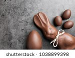 delicious chocolate easter... | Shutterstock . vector #1038899398