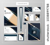 corporate identity template... | Shutterstock .eps vector #1038899788