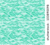 Seamless wave hand-drawn texture, waves background (seamlessly tiling).Can be used for wallpaper, pattern fills, web page background,surface textures. Gorgeous seamless wave background - stock vector