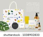 beautiful terrazzo pattern on... | Shutterstock .eps vector #1038902833