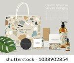beautiful terrazzo pattern on... | Shutterstock .eps vector #1038902854