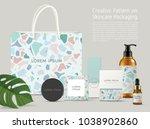 beautiful terrazzo pattern on... | Shutterstock .eps vector #1038902860