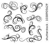 decorative monograms and... | Shutterstock .eps vector #1038905629