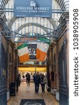 Small photo of Cork City, Ireland - 24th February 2018: Entrance to the English market in Cork City ,The Market open since 1788 is a well know local food market popular with locals and tourists alike