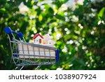 mini shopping cart contain...   Shutterstock . vector #1038907924