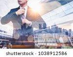 the double exposure image of... | Shutterstock . vector #1038912586
