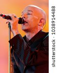 "Small photo of Verona Italy 09/18/2004, Arena : Michael Stipe of Rem in concert during the musical event ""Festivalbar 2004""."