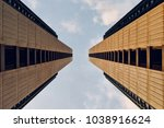 symmetrical building background | Shutterstock . vector #1038916624
