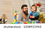 family and childhood concept.... | Shutterstock . vector #1038921943