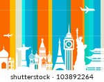 Travel Background   Vector...